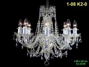 Křišťálový lustr 8-ramenný 1-08 K2-0 60x52cm