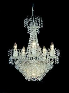 Křišťálový lustr brilliant 10PBB051600006 50x61 cm, 6 světel, barva silver