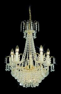 Křišťálový lustr brilliant 11PBB051600008 50x61 cm, 8 světel, zlacený