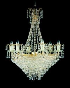 Křišťálový lustr brilliant 12PBB05160009 35x39 cm, 9 světel, zlacený