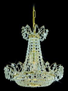 Křišťálový lustr brilliant 14PBB050602001 36x38 cm, 1 světlo, zlacený