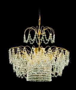 Křišťálový lustr brilliant 16PCA314400003 52x47 cm, 3 světla, zlacený