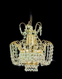 Křišťálový lustr brilliant 17PBA348700001 25x25 cm, 1 světlo, zlacený