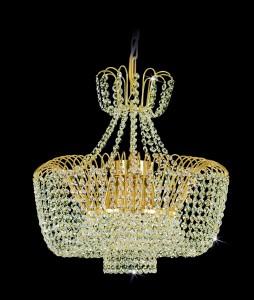 Křišťálový lustr brilliant 18PBA348700003 44x45 cm, 3 světla, zlacený