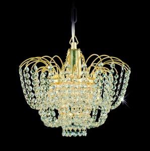 Křišťálový lustr brilliant 19PCA311700001 35x26 cm, 1 světlo, zlacený