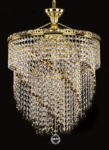 Křišťálový lustr brilliant 20L282B800667 40x58 cm, 7 světel, zlacený
