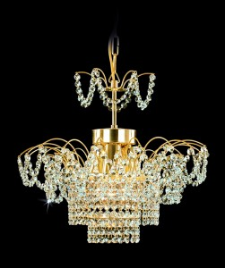 Křišťálový lustr brilliant 26PCA314401003 46x38 cm, 3 světla, zlacený