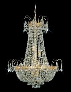 Křišťálový lustr brilliant 2PBB050900012 65x84 cm 12 světel, zlacený řetěz