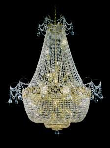 Křišťálový lustr brilliant 3PBB050900024 110x150 cm 24 světel, zlacený řetěz