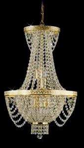 Křišťálový lustr brilliant 4PBB093301006 40x65 cm 6 světel, zlacený řetěz