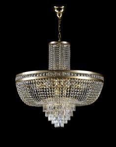 Křišťálový lustr brilliant 6L200CE13 80x79cm 13 světel, zlacený řetěz