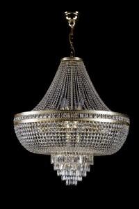 Křišťálový lustr brilliant 7L198CE15 80x90 cm 15 světel, zlacený řetěz