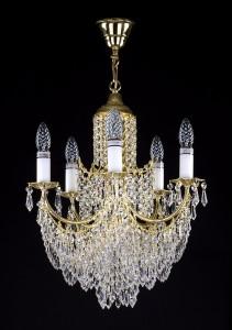 Křišťálový lustr brilliant 8L264CE6 45x60 cm 6 světel, zlacený řetěz