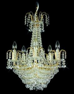 Křišťálový lustr brilliant 9PBB051600006 50x61 cm 6 světel, zlacený řetěz