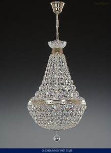 Křišťálový lustr brilliant silver color 02001/10113/003 35x60cm