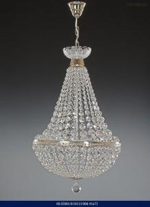 Křišťálový lustr brilliant silver color 02001/10113/006 45x72cm