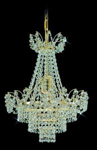 Lustr křišťálový brilliant 13PBB050600001 36x42 cm, 1 světlo, zlacený