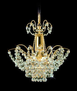 Lustr křišťálový brilliant 15PCA314400001 28x30 cm, 1 světlo, zlacený