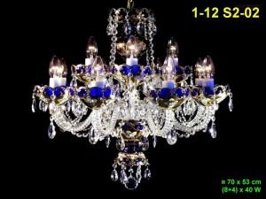 Lustr ze smaltovaného skla 12-ramenný 1-12 S2-02 70x53cm