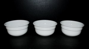Miska na polévku 0,4l. 3ks, bílý porcelán