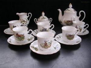 Myslivecká čajová souprava Mary Anne 363 15 dílná