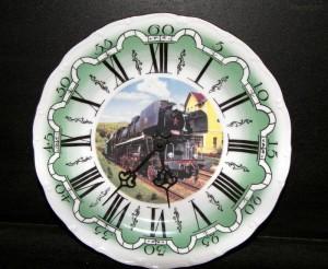 Nástěnné hodiny vlak 10 25cm