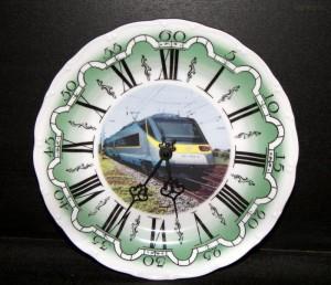 Nástěnné hodiny vlak 9 25cm