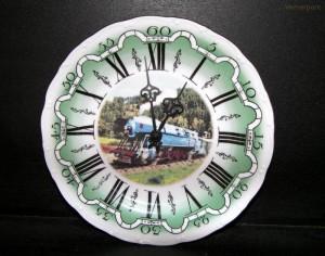 Nástěnné hodiny vlak3 25cm