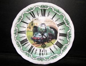 Nástěnné hodiny vlak6 25cm