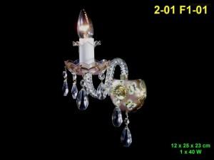 Nástěnné svítidlo 1-ramenné 2-01 F1-01 12x25x23cm