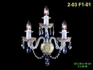 Nástěnné svítidlo 3-ramenné 2-03 F1-01 32x38x19cm