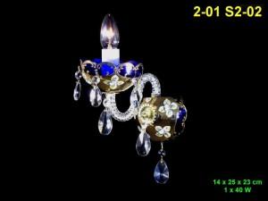 Nástěnné svítidlo smalt 1-ramenné 2-01 S2-02 14x25x23cm