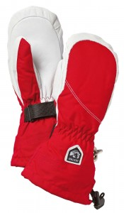 Palcové rukavice HELLI SKI FEMALE MITT 30611 560020 červenobílé