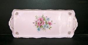 Podnos Amis 013 růžový porcelán 38cm