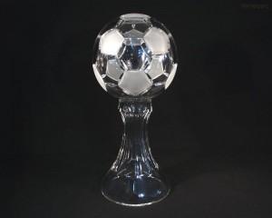 Pohár fotbalový míč křišťál 77040/00000/300 30cm.