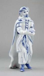 Porcelánová figurka - Král Kašpar