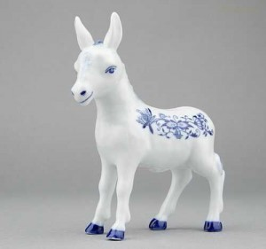 Porcelánová figurka - Oslík