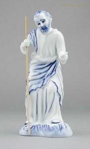 Porcelánová figurka - Svatý Josef s holí