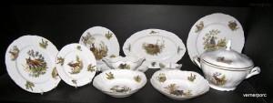 Porcelánová jídelní souprava Bernadotte myslivecká 1011 25 dílná