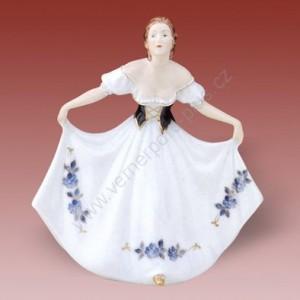 Porcelánová soška - Dáma rokoko 119 isis