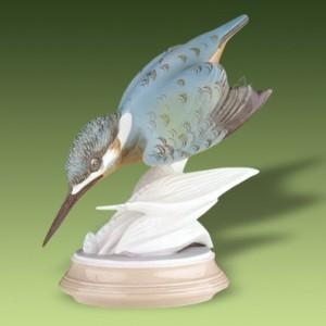 Porcelánová soška - Ledňáček 24444 pastel