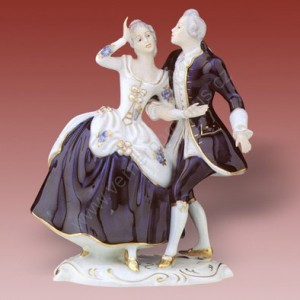 Porcelánová soška - Pár rokoko 137 isis