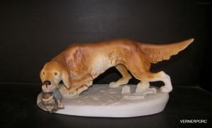 Porcelánová soška - Pes křepelák 306/2 pastel
