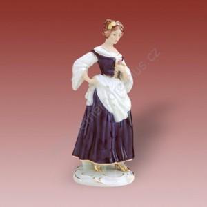 Porcelánová soška - Slečna s květinou 22246 isis