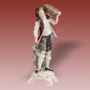Porcelánová soška - Vinař  22167 patisaxe