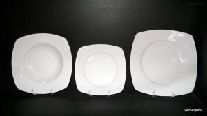 Porcelánová talířová souprava Tetra 18d. nedekor.