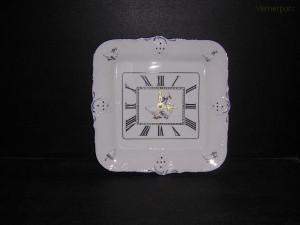 Porcelánové hodiny Diana, čtvercové 31 cm