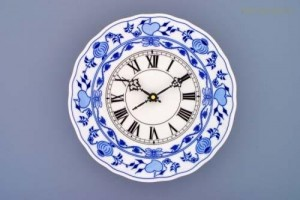 Porcelánové hodiny plné 24cm