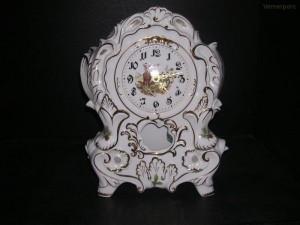 Porcelánové krbové hodiny 32 cm