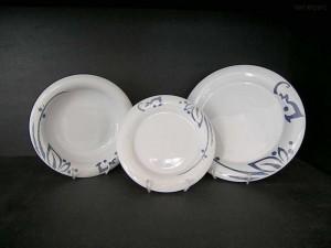Porcelánové talíře, souprava Catrin 18 dílů